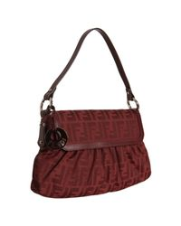 Fendi | Red Zucca Canvas Chef Shoulder Bag | Lyst
