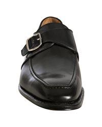 Ferragamo - Black Leather Lexus Monk Strap Loafers for Men - Lyst