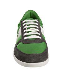 Fred Perry | Green Nylon Oakfield Suede Trim Sneakers for Men | Lyst
