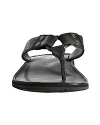 Frye | Black Leather Ludlow Thong Sandals for Men | Lyst