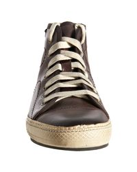 Frye | Dark Brown Leather Copper High Top Sneakers for Men | Lyst