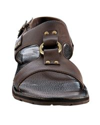 Frye | Dark Brown Leather Ludlow H Band Sandals for Men | Lyst