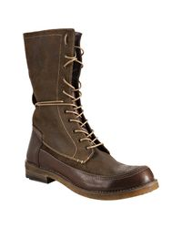 Frye | Green Fatigue Distressed Suede Owen Combat Boots for Men | Lyst