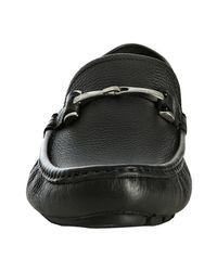 Gucci | Black Pebble Leather Horsebit Loafers for Men | Lyst