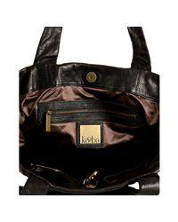 Kooba - Black Leather Montana Grommet Detail Shoulder Bag - Lyst