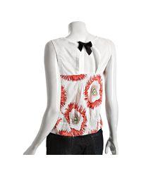 Leifsdottir - White Cotton Poppy Expression Sleeveless Blouse - Lyst