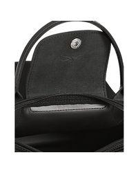 Longchamp - Black Coated Nylon Planetes Mini Tote - Lyst
