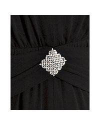 Marc Bouwer Glamit! | Black Jersey Rhinestone Detail Dress | Lyst
