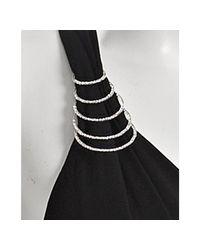 Marc Bouwer Glamit!   Black Jersey Rhinestone Detail Dress   Lyst