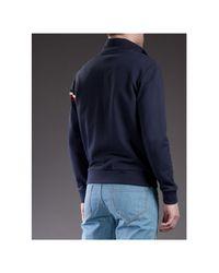 Moncler Blue Zip Up Jumper for men