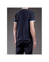 Moncler Blue Classic Emblem T-shirt for men