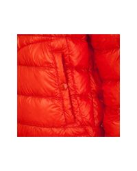 Moncler Orange Quilted Jacket for men