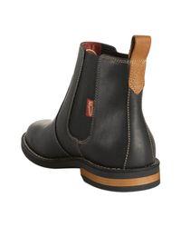 Original Penguin - Black Leather Kris Ankle Boots for Men - Lyst