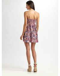 Parker | Pink Baby Doll Bustier Dress | Lyst
