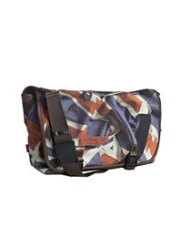 Paul Smith | Brown Union Jack Printed Canvas Buckled Messenger Bag for Men | Lyst