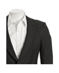 Prada | Gray Anthracite Pinstripe Wool Two-button Jacket for Men | Lyst