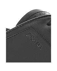 Prada - Black Asphalt Perforated Leather Cap-toe Oxfords for Men - Lyst