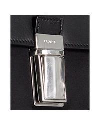 Prada | Black Nylon Dual Pocket Flap Briefcase for Men | Lyst