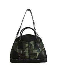 Prada - Green Smoke Camouflage Nylon Leather Trim Bauletto Bowler Bag - Lyst