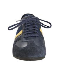 Ralph Lauren | Blue Navy Leather and Suede Henning Sneakers for Men | Lyst