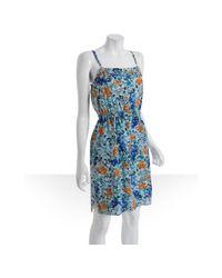 Shoshanna | Blue Silk Antigua Cami Dress | Lyst
