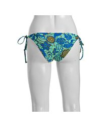 Tibi - Blue Seafoam Graphic Tide Pool Tie Bikini Bottom - Lyst