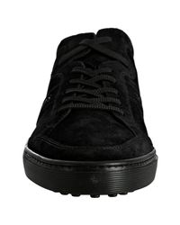 Tod's - Black Suede Cassetta Sneakers for Men - Lyst