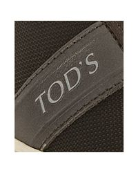 Tod's | Dark Brown Mesh and Suede Sport Cassetta Sneakers for Men | Lyst