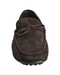 Tod's - Dark Brown Suede City Gommino Moccasins for Men - Lyst