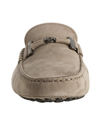 Tod's   Natural Mole Grey Suede Gommini Loafers for Men   Lyst