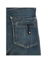 Twenty8Twelve - Medium Blue Crosshatched Sav Straight Leg Jeans - Lyst