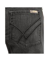 William Rast - Gray Outlaw Wash Stretch Sadie Straight Leg Jeans - Lyst