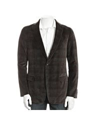 Ermenegildo Zegna - Gray Z Grey Plaid Velvet Drop 8 Decco 2 Button Blazer for Men - Lyst