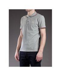 Moncler Gray Classic Polo Shirt for men