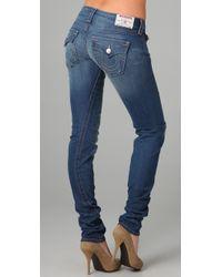 True Religion - Blue Julie Torque Skinny Jeans - Lyst