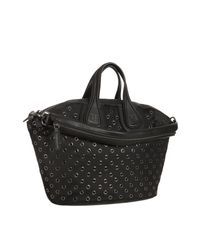Givenchy | Black Grommet Nylon Nightingale Medium Top Handle Bag | Lyst