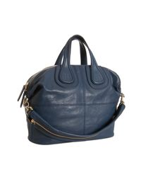 Givenchy | Blue Lambskin Nightingale Medium Top Handle Bag | Lyst