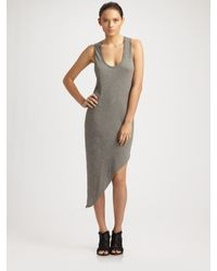 Helmut Lang | Gray Drone Jersey Dress | Lyst