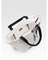 kate spade new york   White Anabel Painted Bow Pvc/canvas Tote   Lyst