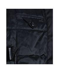 Prada - Black Nylon Fur Collar Zip Front Bomber Jacket for Men - Lyst