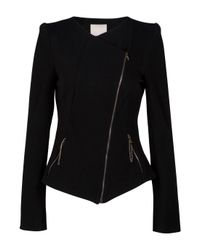 Willow | Black Existence Jacket with Double Zip | Lyst