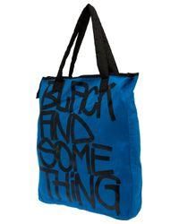 Y-3 - Black and Something Print Shopper for Men - Lyst