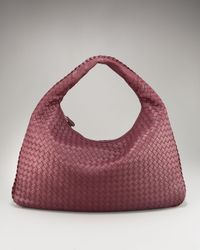 Bottega Veneta | Purple Veneta Napa Hobo, Large | Lyst