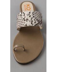 Kors by Michael Kors | Multicolor Zen Toe Ring Flat Sandals | Lyst