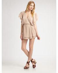 Parker | Pink Flowy Wrap Dress | Lyst