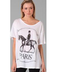 Wildfox - White Paris Pony Tee - Lyst