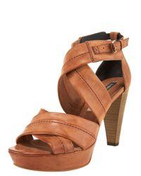 Alberto Fermani | Brown Crisscross Platform Sandal | Lyst