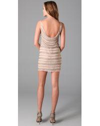 Alice + Olivia - Natural Gabby Beaded Tank Dress - Lyst