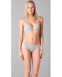 Calvin Klein | Gray Ck One Cotton Convertible T-shirt Bra | Lyst