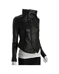 Dallin Chase | Black Leather Solomon Funnel Collar Jacket | Lyst